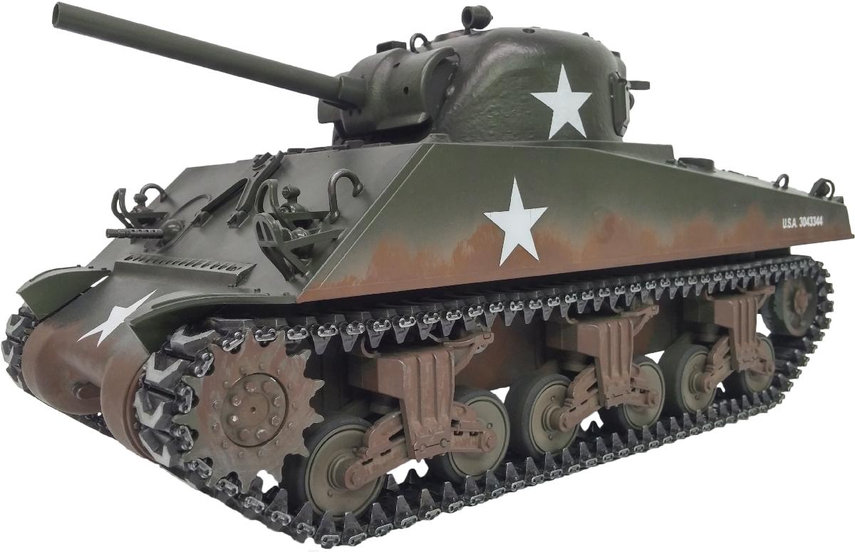 Taigen Sherman M4A3 75mm (Metal Edition) Airsoft 2.4GHz RTR RC Tank 1/16th Scale - Taigen Sherman M4A3 (Metal Edition) Airsoft