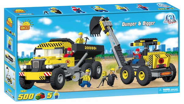 CONSTRUCTION - DUMPER & DIGGER (500 PC) - Cobi Action Town- Construction Dump truck and Excavator