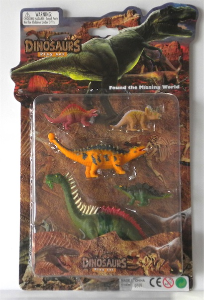 LARGE CARDED DINO SET III, 3 ASST STYLES