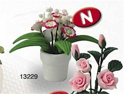 1/12 MINI FLOWER PLANT WHITE