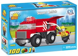FIRE - FIRE SUPPORT VEHICLE (100 PC) - Cobi Action Town-Fire Pumper Truck, 100 pieces