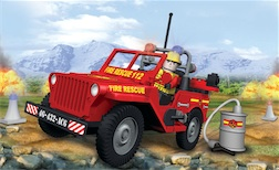 FIRE -  JEEP WILLYS MB (100 PCS) - Fire Jeep Willys, 100 pieces