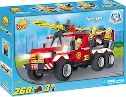 FIRE - TEAM RESCUE TRUCK (260 PC) - Fire Pump and Ladder Truck , 260 pieces