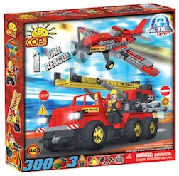FIRE - RESCUE RESCUE (300 PC) - Fire Rescue Ladder Truck Airplane, 300 pieces