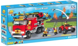 FIRE - RESCUE BRIGADE (500 PC) - Fire Rescue Brigade Pumper ATV, 500 pieces