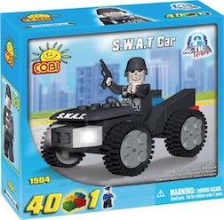 POLICE - SWAT CAR (40 PC) - Police Swat ATV, 40 pieces