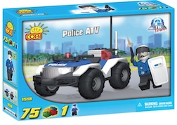 POLICE - ATV (75 PC) - Police ATV, 75 pieces
