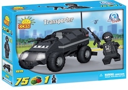 POLICE - TRANSPORTER (75 PC) - Police Swat Transporter, 75 pieces