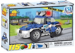 POLICE - PATROL CAR (115 PC) - Police Patrol Car, 115 pieces