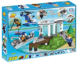 POLICE - STATION W WATERCRAFT (320 PC) - Cobi Action Town- Police Station with Police Boat, 320 pieces