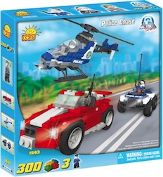 POLICE - POLICE CHASE (300 PC) - Cobi Action Town- Police car chase with Helicopter ATV, 300 pieces