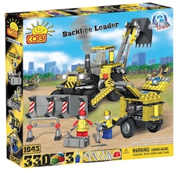 CONSTRUCTION - BACKHOE LOADER (330 PC) - Cobi Action Town- Construction Back Hoe and Compressor, 330 pieces