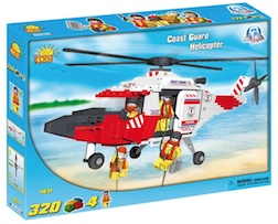 COAST GUARD - RESCUE HELICOPTER (320 PC) - Cobi Action Town- Coast Guard Helicopter Rescue, 320 pieces
