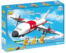 COAST GUARD - RESCUE SUPPORT PLANE (320) - Cobi Action Town- Coast Guard Rescue Support Plane, 320 pieces