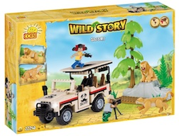 WILD STORY - 2 CHARACTERS & 2 LIONS (250PC)
