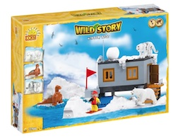 WILD STORY - WINTER BASE (300 PCS) - Cobi- Wild Story Winter Base Camp, 300 pieces