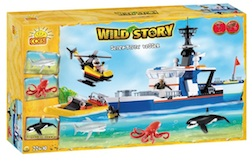 WILD STORY - RESEARCH SHIP (400 PC) - Cobi Wild Story Artic Research Ship, 400 pieces
