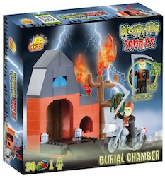 M. VS Z. - BURIAL CHAMBER (80 PC) - Cobi Monsters Vs. Zombies Burial Chamber, 80 pieces