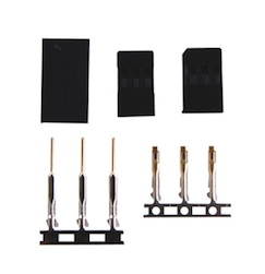 BLACK FUTABA MALE & FEMALE PLUG KIT (1)