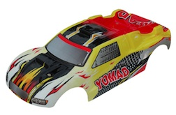 1/10 TRUGGY BODY- RED & YLW FLAME