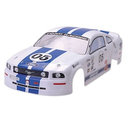 1/10 MUSTANG BODY (CLEAR W/ STICKERS)