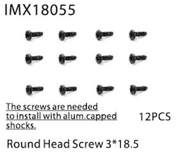 ROUND HEAD SCREW 3*18.5MM