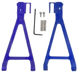 ALUM BLUE REAR LOWER ARMS REVO