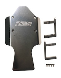 ALUM CHROME CENTER SKID PLATE REVO