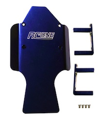 ALUM BLUE CENTER SKID PLATE REVO