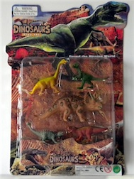 CARDED DINO SET, 3 ASST STYLES