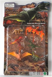 LARGE CARDED DINO SET II, 3 ASST STYLES