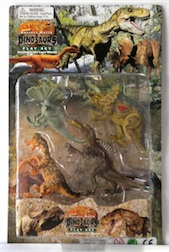 LARGE CARDED DINO SET IV, 2 ASST STYLES