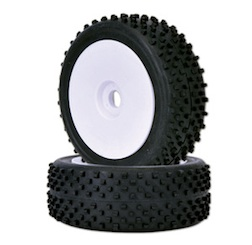 1/8 BUGGY TIRE/RIM SET B (PAIR)
