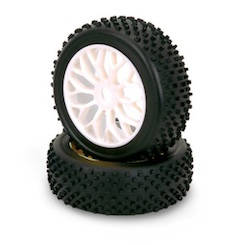 1/8 BUGGY TIRE/RIM SET D (PAIR)
