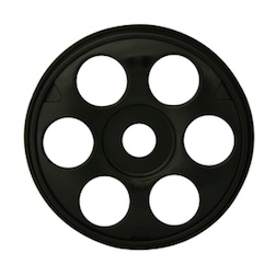1/8 ST SWEEPER BUGGY RIMS BLACK (4)