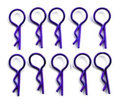 MEDIUM PURPLE BODY PINS (10)
