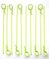 LONG YELLOW BODY PINS (10)
