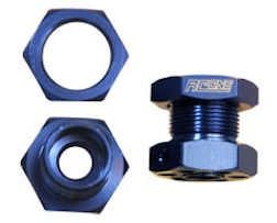 1/8 ALUM 23MM HEX WHEEL HUB BLUE TRUCK