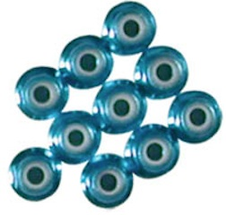 3MM BLUE ALUM/NYLON NUT W/FLANGE 10P