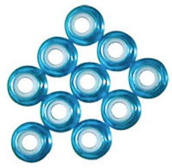 5MM BLUE ALUM/NYLON FLANGE NUT
