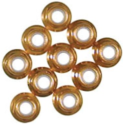 5MM GOLD ALUM/NYLON FLANGE NUT
