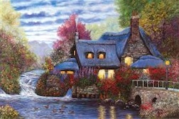SUNSET COTTAGE 1,000 PIECE PUZZLE