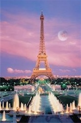 EIFFEL TOWER PARRIS FRANCE 1,000 PIECE PUZZLE GLOW-IN-THE-DARK
