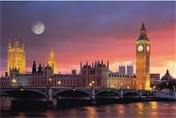HOUSE OF PARLIAMENT LONDON 1,000 PIECE PUZZLE GLOW-IN-THE-DARK