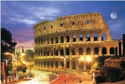 ROME COLOSSEUM 1,000 PIECE PUZZLE GLOW-IN-THE-DARK