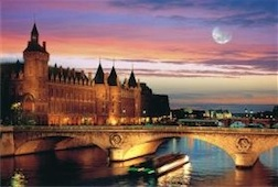 LA SEINE PARIS 1,000 PIECE PUZZLE GLOW-IN-THE-DARK