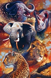 THE BIG FIVE 1,500 PIECE PUZZLE