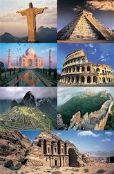 THE 7 NEW WONDERS OF THE WORLD 1,500 PIECE PUZZLE