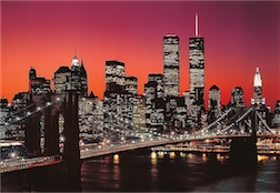 TWILIGHT IN NEW YORK 300 PIECE PUZZLE GLOW-IN-THE-DARK