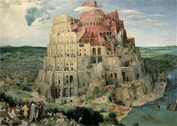 THE TOWER OF BABEL MINI 1,000 PIECE MINI PUZZLE